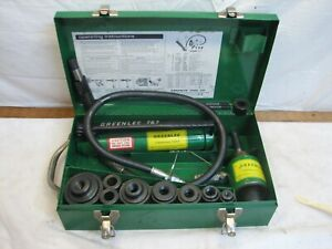 "Greenlee 7306 Hydraulic Knockout Punch Driver 1/2 - 2"" Conduit 767 Pump 746 Ram"