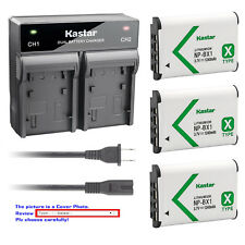 Kastar Battery Rapid Charger for Sony NP-BX1 Cyber-shot DSC-RX100M6 (RX100 VI)