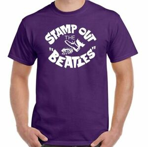 Stamp Out The Beatles T-Shirt Mens Funny As Worn By George Harrison
