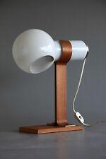 Desk lamp Denmark 1950s / Tischlampe Glas,Teak 50er 60er 70er
