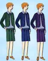 1920s Vintage Butterick Sewing Pattern 2167 FF Junior Misses Flapper Dress Sz 14