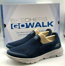 Skechers Men's Go Walk Shoe ULTRA GO Cushioning Air Cooled Navy NEW Size 9.5