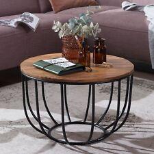 FineBuy Coffee table MANURA living room table solid wood sofa table living room