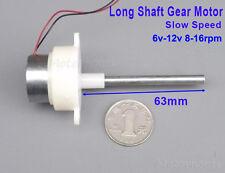 DC 6V-12V 16RPM Gear motor Slow Speed Long Shaft Mini Turbine Worm Geared Motor