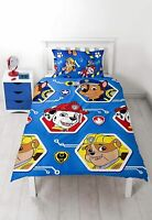 Paw Patrol Single Duvet Cover Bedding Set Children Kids Characters Pups Licensed