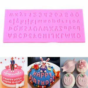 US 26 Alphabets Number Silicone Fondant Biscuit Mold Chocolate Cake Decoration