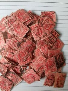 Great Britain Edward VII 1902-11 One Penny Red  Used joblot appox 100+ stamps