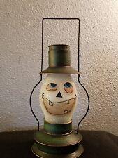 Department 56 Glitter GlassGhost Tea Light Candle Holder Lantern Halloween
