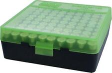 MTM Case-Gard Handgun Ammunition Ammo Storage Box 100 Round P-100-45 Green Black