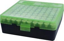 MTM Case-Gard Handgun Ammunition Ammo Storage Box 100 Round P-100-45 Green Black