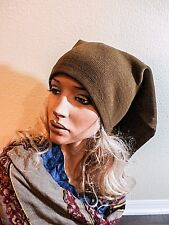 NWOT ILONA.K BROWN 100% WOOL BANDANA STYLE HAT-ONE OF THE KIND