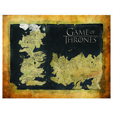 Game of Thrones MAP Canvas Print Man Cave Birthday Fathers Christmas Gift