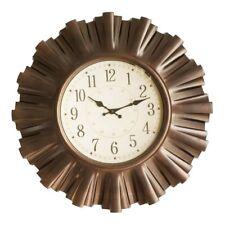 Wanduhr Uhr Retro groß in Bronzeoptik Durchmesser 58 cm