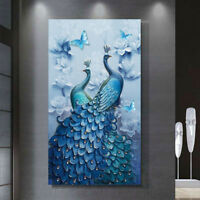 Peacock 5D Diamond Painting Embroidery DIY Cross Stitch Kit Craft Home Decor