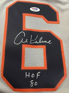 Al Kaline Signed and Inscribed HoF 80 Detroit Tiger Jersey-Majestic-PSA/DNA