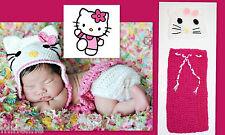 ★★★NEU Baby Fotoshooting Kostüm 2Tlg. Hello Kitty Mütze & Fußsack 0-3Monate★★★AD