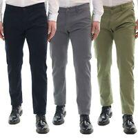 Pantaloni Uomo Chino Estivi Leggeri Slim Cotone Elegante 44 46 48 50 52 54