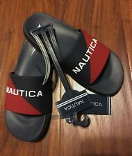 Nautica Navy with Red Youth Size 2 Boys Slide Sandals Stonno Style Kb1164 New