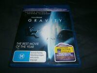 GRAVITY (BLURAY & DVD & ULTRAVIOLET, 2014) REGION B REGION 4 AUSSIE -FREE POST!!