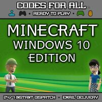 Minecraft Windows 10 Edition PC FULL GAME Region Free DIGITAL DOWNLOAD INSTANT