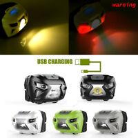 10000LM Motion Sensor Headlamp LED Headlight USB Rechargeable Head Flashlight