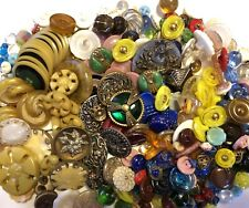 Vintage Buttons - 270 Glass, Metal, Plastic / Moonglow, Art Deco, Mirror Back *