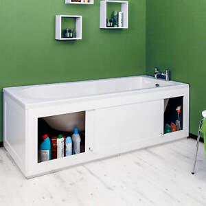 Croydex Unfold 'N' Fit White Front Side Bath Panel 1680mm & Lockable Storage
