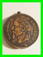 Vintage Napoleon III Empereur Empire Francais 1870 Coin Lighter NEW ~ UNFIRED!