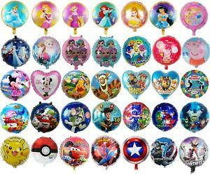 Happy Birthday Balloons Characters Princesses LOL Peppa Cars Avengers Spider Man