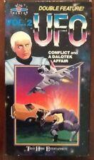UFO TV series vol 2 VHS video vintage U.F.O. space Conflict & Dalotek Affair 70s