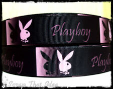 "Playboy Bunny RIBBON.  7/8"" Grosgrain.  Scrapbooking/ Bows/ Craft."