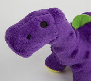 goDog Just For Me Bruto with Chew Guard Technology Plush Dog Toy, Purple, Mini