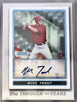 2021 MIKE TROUT #'d 13/49 5x7 TOPPS THROUGH THE YEARS #TTY-28💥💥