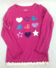 Okie Dokie Girls Pink Long Sleeve Shirt Size 5