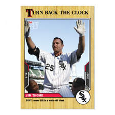 🛑 JIM THOME 2021 TOPPS NOW TURN BACK THE CLOCK #169 CHICAGO WHITE SOX 🔥
