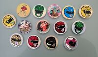 MIGHTY MORPHIN POWER RANGERS LOT OF 14 POG POWER CAPS SABAN