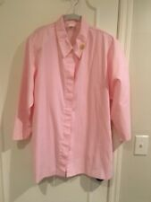 Pink Mary Kay Consultant Lab Coat Jacket Smock Size Med