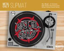 """Metal Only Turntable Slipmat - 12"""" LP Record Player, Pentagram DJ Slipmat"""