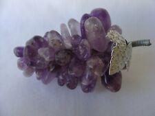Amethyst Mid Century Modern Gem Polished Purple Grape Cluster Vintage Mineral