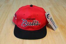 Vintage 90s Chicago Bulls Sports Specialties Twill Snapback NEW OLDSTOCK Script