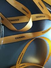 New 2020 gold grosgrain with black letter from Chanel 2cm(W) X 2 METRE