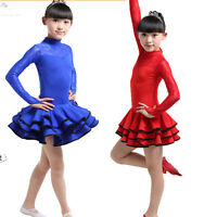 Kids Ballet Latin Salsa Dancwear girl's skirt Dress Children's Dancing Costumes