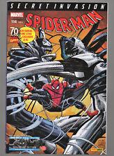 MARVEL SPIDERMAN N°114 + LITHO EXCLUSIVE 2/4 , PANINI COMICS , ETAT DE NEUF !!
