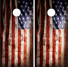C196 Distressed Flag Cornhole Board Wrap LAMINATED Wraps Decals Vinyl Sticker