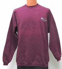 vtg PLUM Champion SWEATSHIRT M/L warmup 90s Double Logo purple