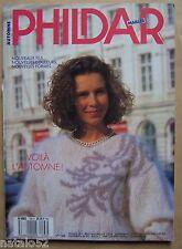 ) A - catalogue vintage laine tricot PHILDAR n° 166 automne - 1988