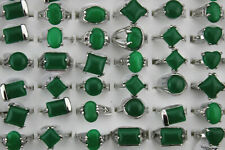 Wholesale Jewelry Mixed Lots 60pcs Lady's Green Natural Stone Fashion Rings