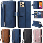 Zipper Wallet Leather Flip Case Cover For iPhone 12 Pro 11 X XR XS Max 6 7 8Plus