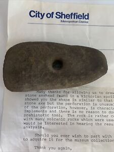 Neolithic Polished stone axe Authenticated by Sheffield museum