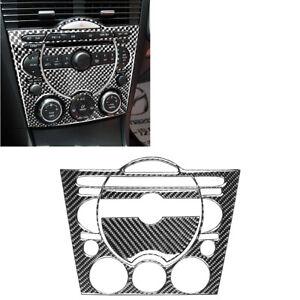 3pcs For Mazda RX-8 2004-2008 Carbon Fiber CD AC Console Interior Sticker Trim